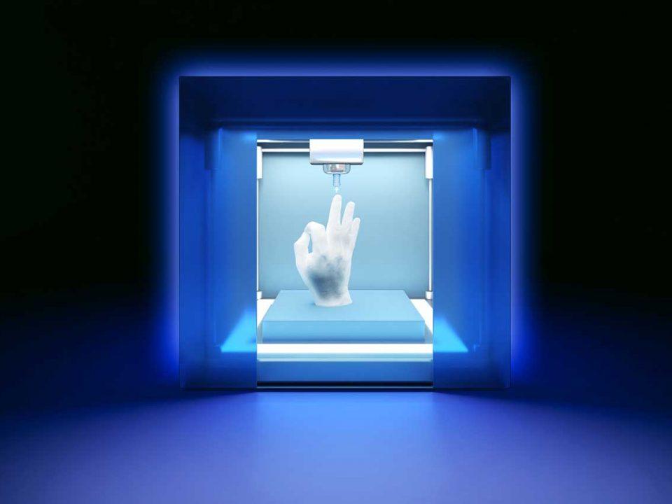 3D tlač ruky
