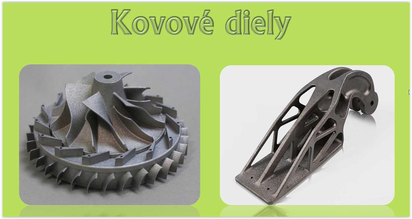 Kovové diely 3D tlač